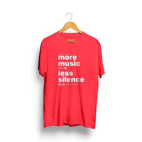 Camiseta More Music Rosé Pistol Unisex - Rojo
