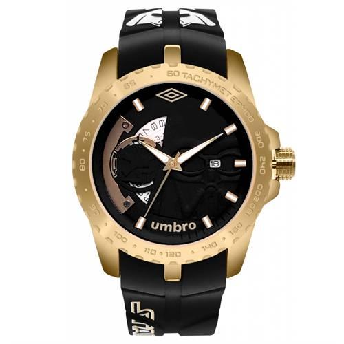Reloj Análogo Dorado-Negro Umb-Sw02-3