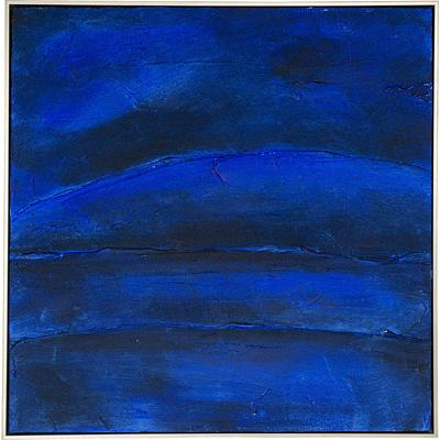 Cuadro Abstract Deep azul 80x80cm