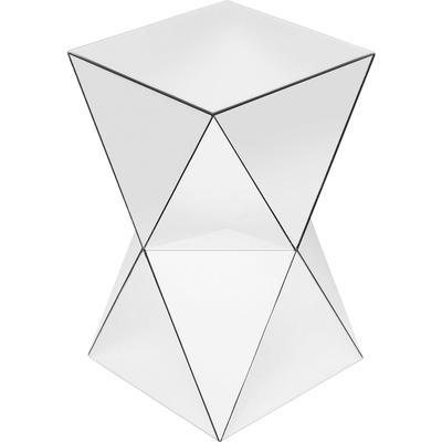 Mesa auxiliar Luxury Triangle blanco 32x32cm