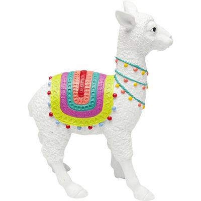 Objeto decorativo Alpaca blanco 39cm