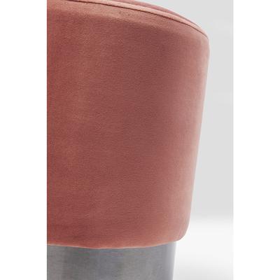 Taburete James rosa negro Ø35cm