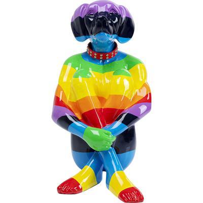 Objeto decorativo Sitting Dog Rainbow 80cm