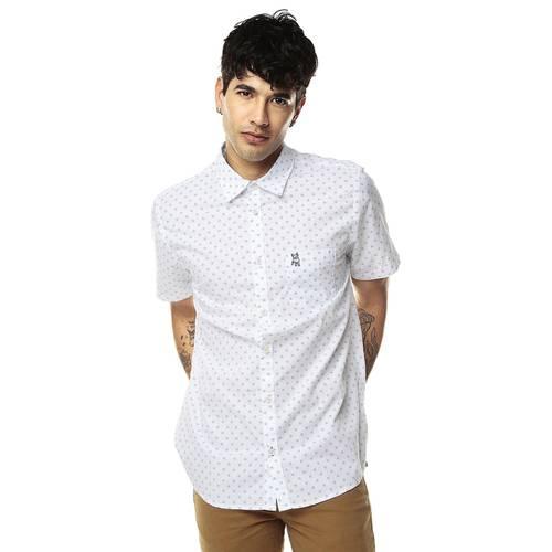 Camisa Manga Corta Jack Supplies Para Hombre  - Blanco