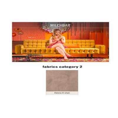 Sofá, 3 puestos, Milchbar, tela 2 - Astoria 4 silver (230x72x80cms)