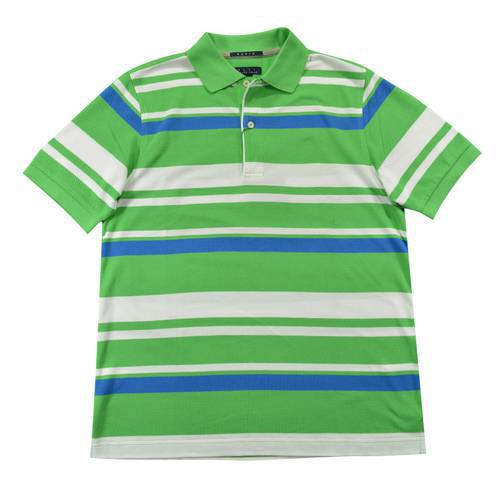 Camiseta Polo Nal Rayas Pique 840-17 Verde