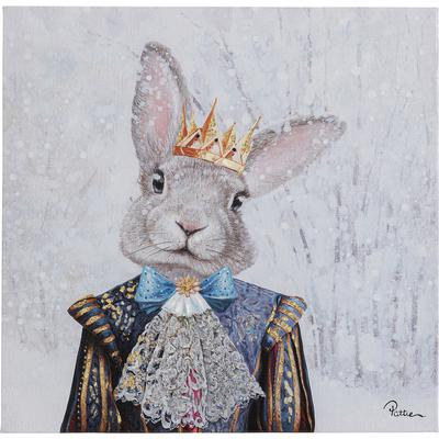Cuadro King of Rabbit 50x50