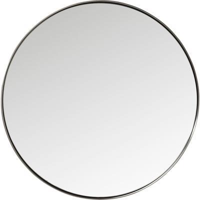 Espejo Curve redondo acero natural Ø100cm
