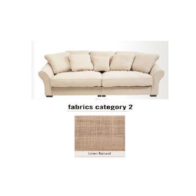 Sofá Kapitel, 2 puestos, tela 2 - Linen Natural  (246x113x68cms)