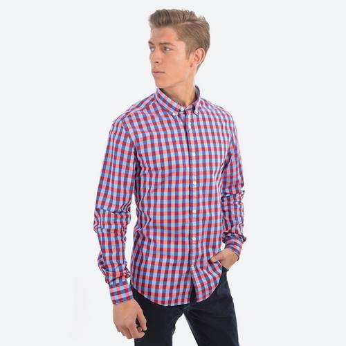 Camisa Ml Diseño Maron Ch Barberry-Pt 92-0 - Tommy Hilfiger