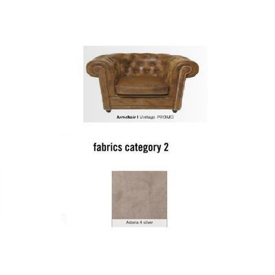 Poltrona Cambridge, tela 2 - Astoria 4 silver (115x76x92cms)