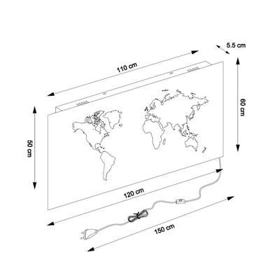 Lámpara pared Map LED