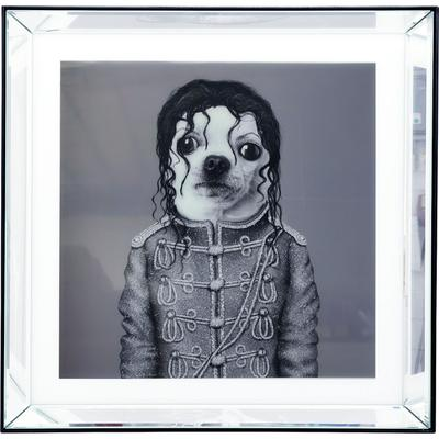 Cuadro Mirror King Dog 60x60cm