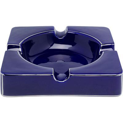 Cenicero Symmetric azul 24x24cm