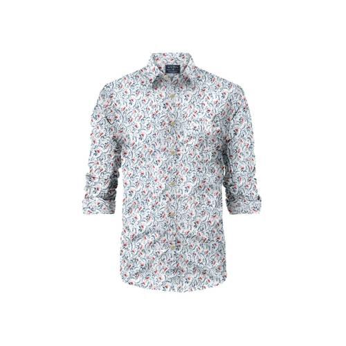 Camisa La Jolla Manga Larga Rose Pistol para Hombre - Blanco