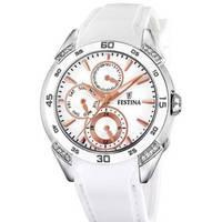 Reloj analógico blanco-bronce-blanco 94-3