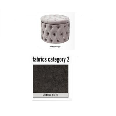 Pouf My Desire, tela 2 - Astoria Black (73x46x73cms)