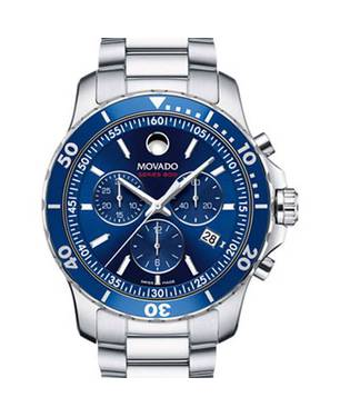 Reloj análogo azul-plateado 0141