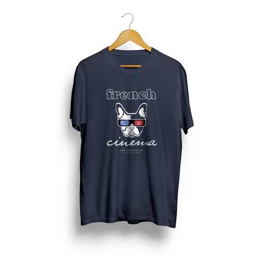 Camiseta Jack Supplies Para Hombre French Cinema  - Azul