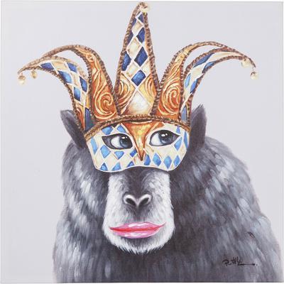 Cuadro Carnival Monkey 70x70cm
