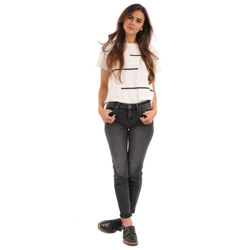 Camiseta Patrice Color Siete Para Mujer - Blanco