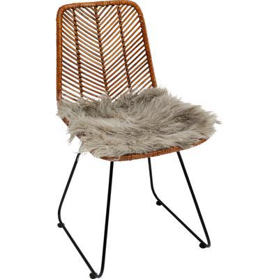 Cojín asiento Lammfell gris 40x40cm