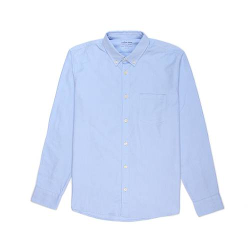 Camisa Oxford Manga Larga - Azul