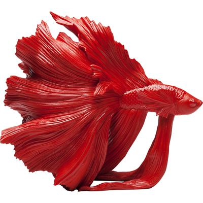 Objeto decorativo Betta Fish rojo peq.