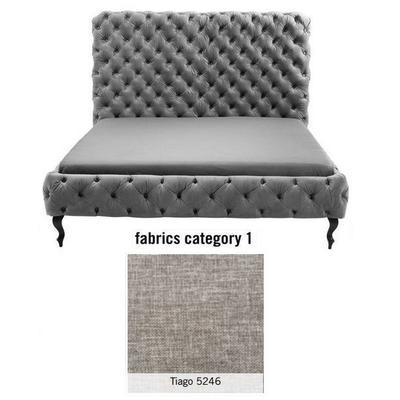 Cama (Alta) Desire, tela 1 - Tiago   5246, (138x177x228cms), 160x200cm (no incluye colchón)