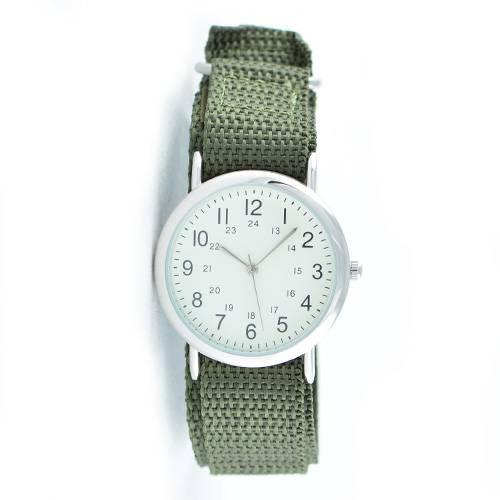 Reloj análogo blanco-verde P102