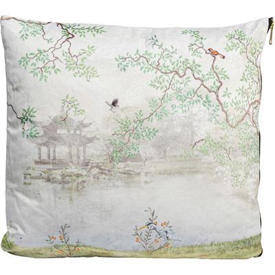 Cojín Chinese Garden blanco 45x45