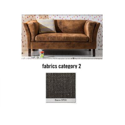 Sofá Canapee, 2 puestos, tela 2 - Baron 9700  (160x73x79cms)