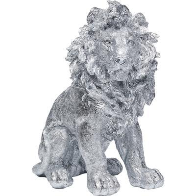 Figura deco Sitting Lion plata 42cm