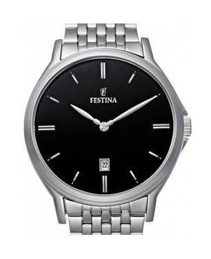 *Reloj Plateado-Negro 44-4 - Festina