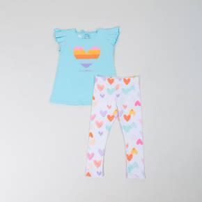Conjunto leggings-camsieta manga corta Little Girl