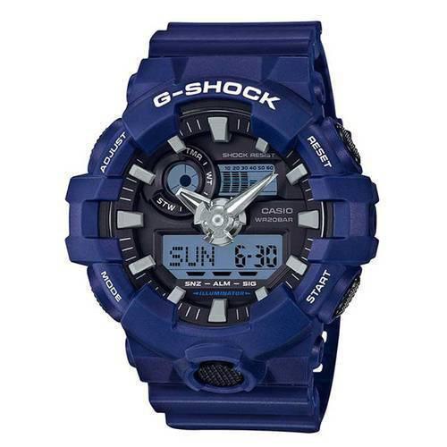 Reloj g-shock anadigi negro-azul -2AD