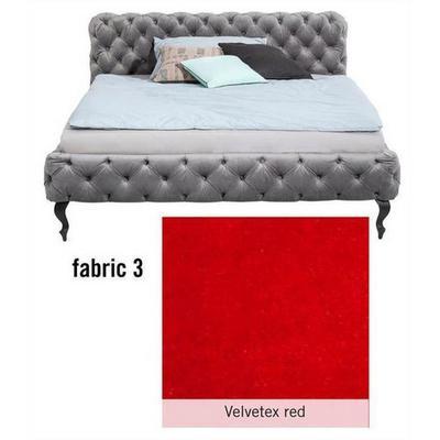 Cama Desire, tela 3, Velvetex Red, (100x157x228cms), 140x200cm (no incluye colchón)