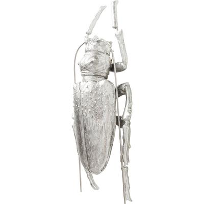 Decoración pared Longicorn Beetle plata