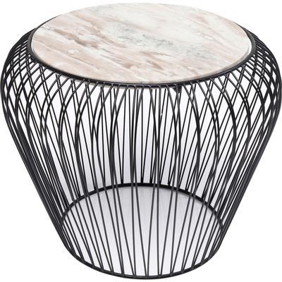 Mesa auxiliar Beam gris marmol negro Ø43cm