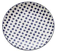Plato Dots azul Ø20cm