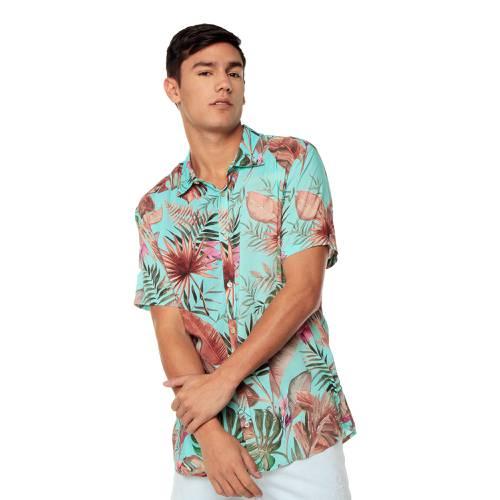 Camisa Manga Corta La Jolla Rosé Pistol Para Hombre