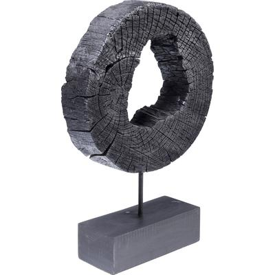 Objeto decorativo Ring Of Fire negro 53cm