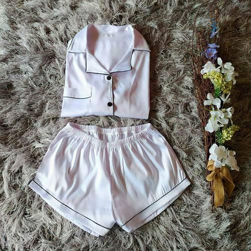 Pijama Iris manga larga Blanco C1-R26-Bla