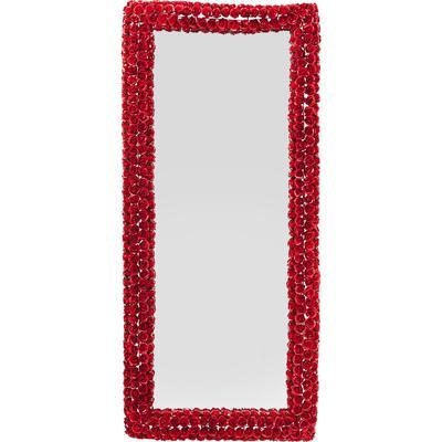 Espejo Fiore rojo Ø100cm