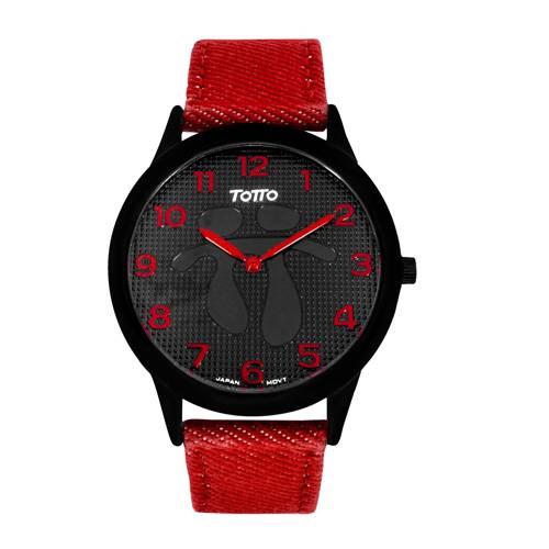 Reloj análogo negro-rojo 11-3