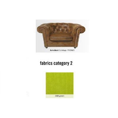 Poltrona Cambridge, tela 2 - 388 green  (115x76x92cms)