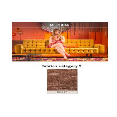 Sofá, 3 puestos, Milchbar, tela 2 - Istinia 07  (230x72x80cms)