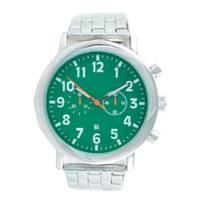 Reloj análogo verde-plateado U132
