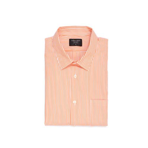 Camisa Estampada Rayas - Naranja