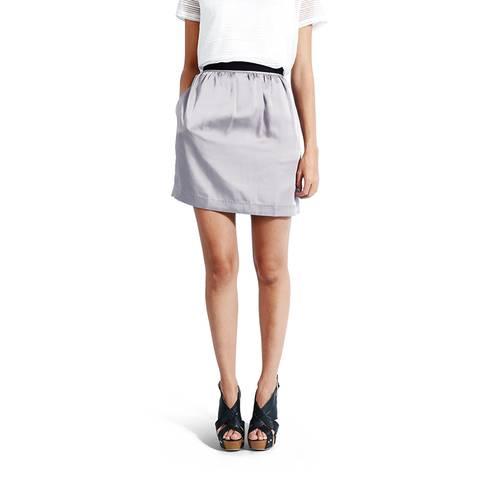 Falda Color Siete para Mujer - Gris